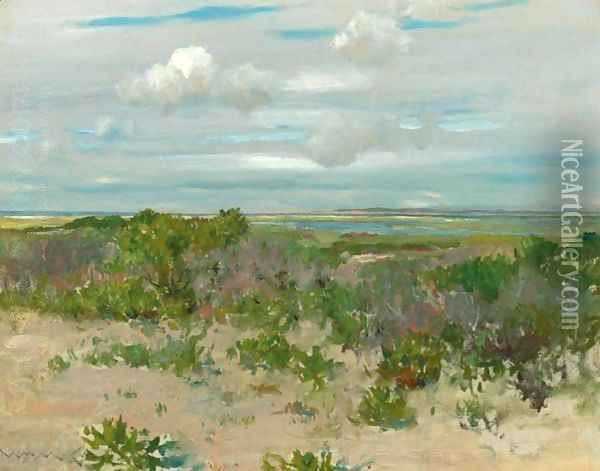 Shinnecock Landscape 2 Oil Painting - William Merritt Chase