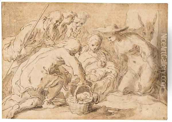 The Adoration Of The Shepherds Oil Painting - Abraham Bloemaert
