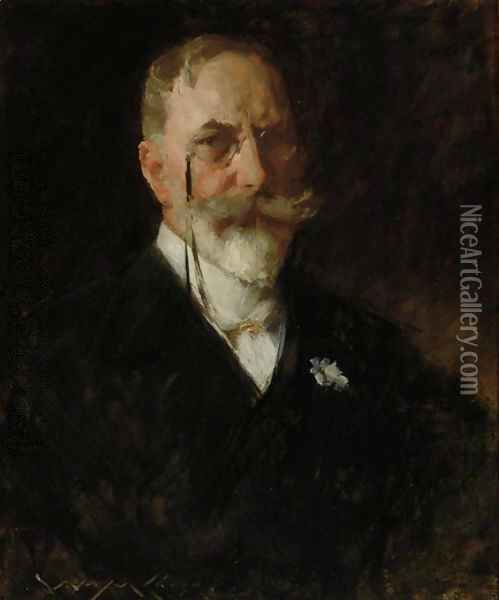 Self-Portrait 2 Oil Painting - William Merritt Chase