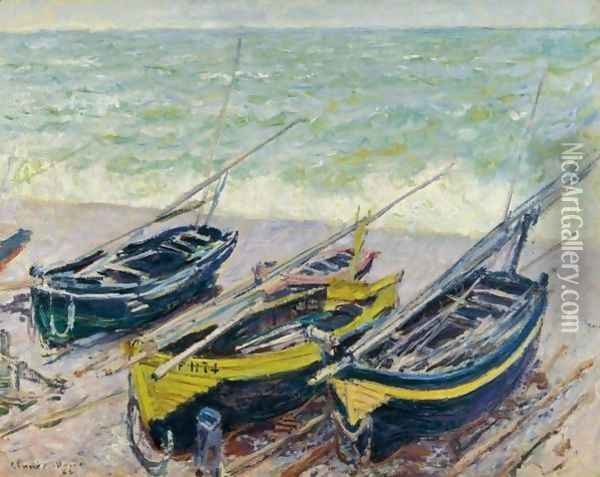 Bateaux Sur Le Galet Oil Painting - Claude Oscar Monet