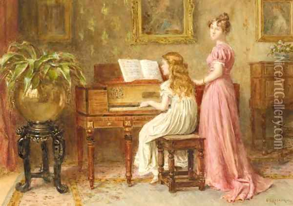 The Music Room Oil Painting - George Goodwin Kilburne