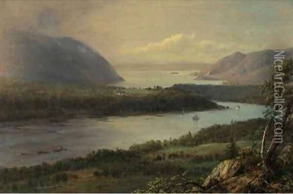 The Highlands Of The Hudson River Oil Painting - Frederic Edwin Church