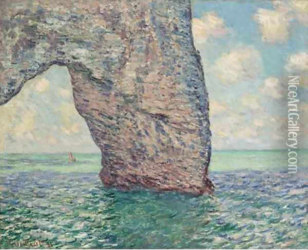 La Manneporte, Maree Haute Oil Painting - Claude Oscar Monet