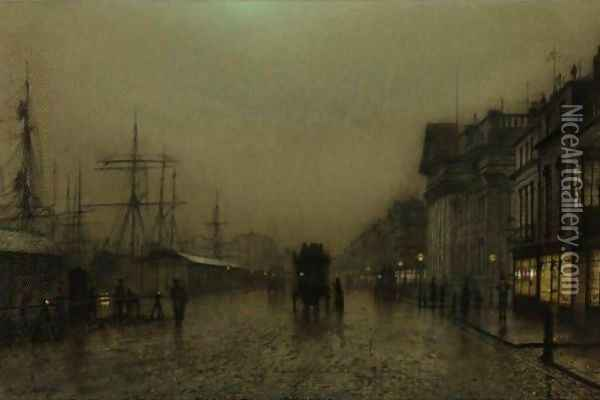 Salthouse Docks, Liverpool Oil Painting - John Atkinson Grimshaw