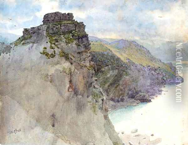 Castle Rock, Lynton, Devon Oil Painting - Sir Edward John Poynter