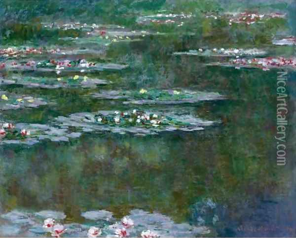 Nympheas 7 Oil Painting - Claude Oscar Monet