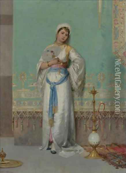 A Middle Eastern Beauty Oil Painting - Francesco Beda