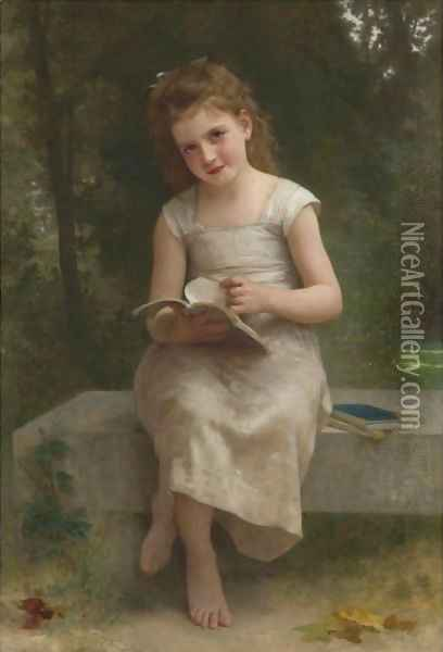 La Liseuse Oil Painting - William-Adolphe Bouguereau