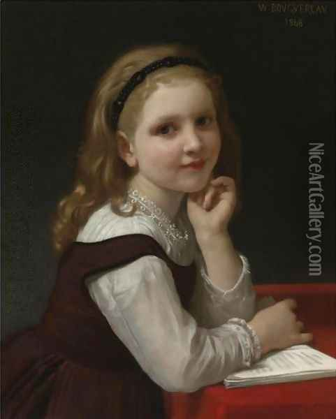 Distraction Oil Painting - William-Adolphe Bouguereau
