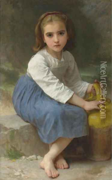 Jeune Fille A La Cruche Oil Painting - William-Adolphe Bouguereau
