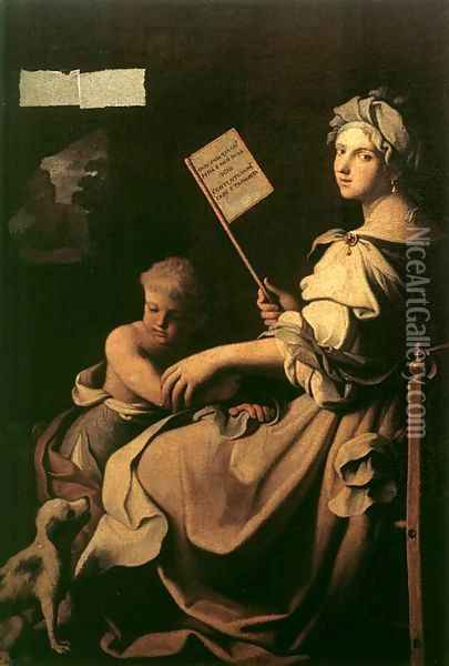 Allegory of Human Fragility Oil Painting - Giovanni Domenico Cerrini
