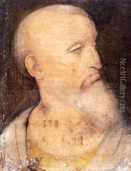 Head of St Andrew Oil Painting - Leonardo Da Vinci