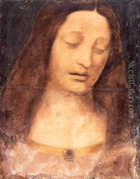 Head of Christ 2 Oil Painting - Leonardo Da Vinci