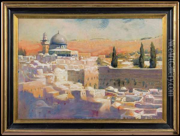Jerusalem Oil Painting - Adolf, Abraham Behrman