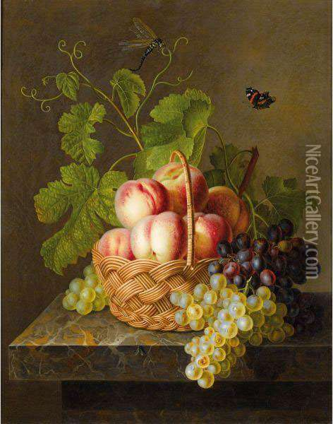Panier De Fruits Oil Painting - Antoine Berjon