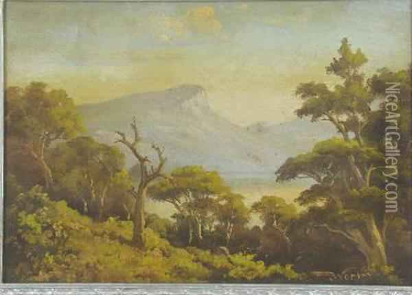 P. Wort Land Scape Oil Painting - John Francis Bland