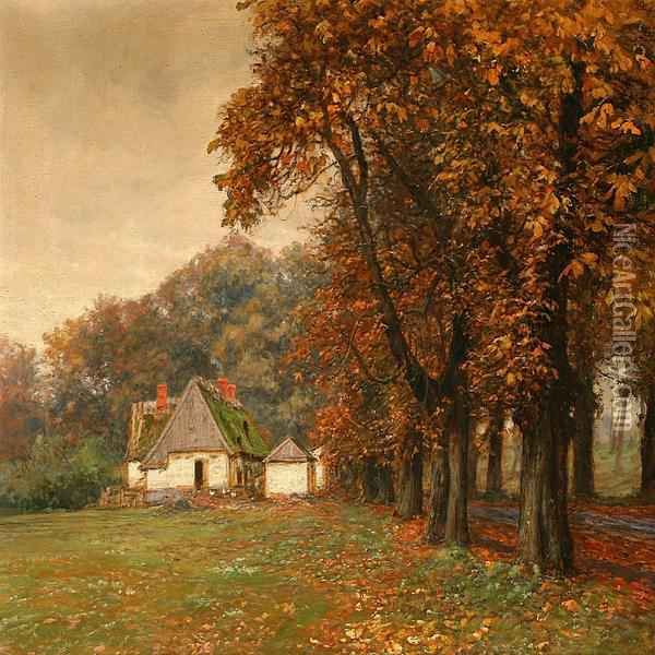 Paintings of Autumn Scenes Autumn Forest Scene From