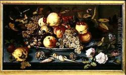 Still Life with Fruit Flowers and Seafood
