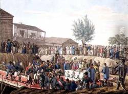The Laying of the First Stone of the Customs House at Mohiloff in 1820