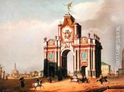 The Red Gate in Moscow 1840s