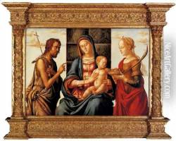 The Madonna and Child enthroned with Saints John the Baptist and Dorothy