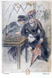 A Prostitute and her Client, illustration from 'La Maison Philibert'