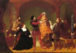 A Scene from 'The Taming of the Shrew' (Act IV, Scene III)