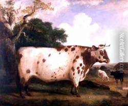 A Shorthorn Bull in a Landscape, 1841