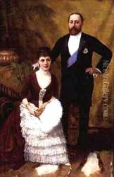 King Edward VII 1841-1910 and his wife Queen Alexandra 1844-1925