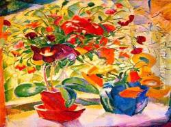 Flowers on Windowsill Oil Painting