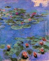 Red Water-Lilies 1914-1917 Oil Painting