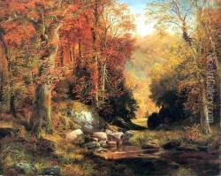Cresheim Glen Wissahickon Autumn Oil Painting