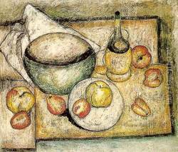 Still Life with a Green Bowl and Fruit