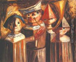 Four Children with a Trumpet