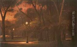 Park Monceau at Night (A Parc Monceau ejjel) 1895