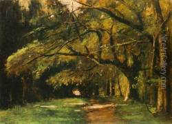 Park in Colpach 1886 Oil Painting