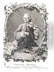 Portrait of Leopold Mozart 1719-87 Austrian violinist and composer
