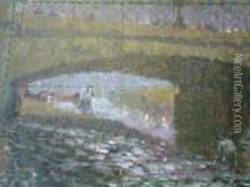 Rowing On The Thames Oil Painting