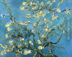 Branches with Almond Blossom Oil Painting