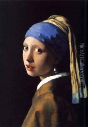 Girl with a Pearl Earring c. 1665 Oil Painting