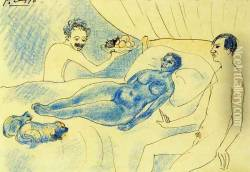 A Parody of Manet's 'Olympia' with Junyer and Picasso