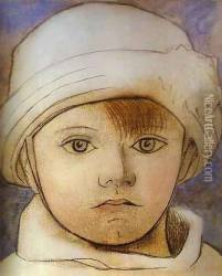 Portrait of Paul Picasso as a Child Oil Painting